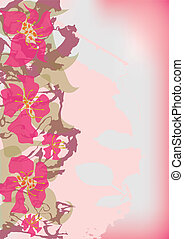 pink flowers - vector postcard with pink flowers (eps10)