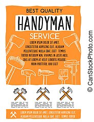 Vector poster for handy home repair service