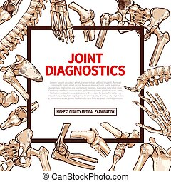 Vector poster for joint medical diagnostics