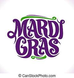 Vector poster for Mardi Gras Carnival, original decorative...