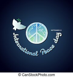 Vector poster for the International Day of Peace.