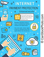 Vector poster of internet payment protection