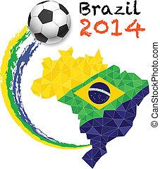 Vector poster soccer.