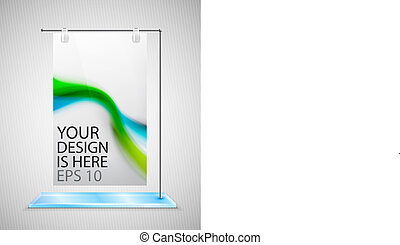 Vector poster stand banner