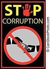 Stop Corruption - Vector poster Stop Corruption