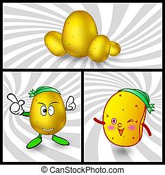 Vector potato cartoon