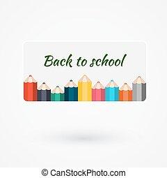 vector, potlood, gebruikt, spandoek, zijn, kleur, illustratie, creatief, concept, groenteblik, mal, infographics, banieren