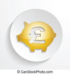 vector pound piggy bank
