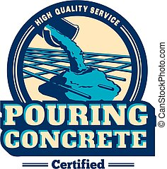 Vector logo for service company of a pouring cement concrete