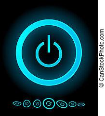 Vector power buttons
