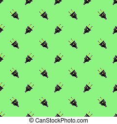 Vector Power Plug Seamless Pattern