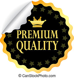 Vector premium quality sticker isolated on white
