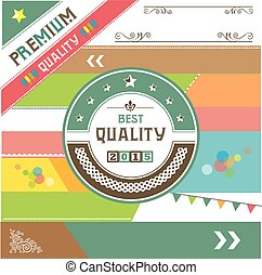 premium vintage badges and labels