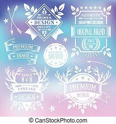 Vector premium vintage badges set