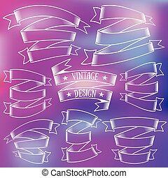 Vector premium vintage ribbons set
