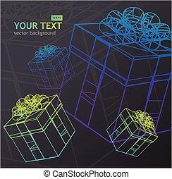 Vector present box background