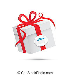 Vector Present Box, Gift Box