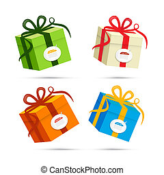 Vector Present Box, Gift Box Set