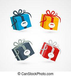 Vector Present Box, Gift Box Set