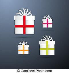 Vector Present Boxes Set