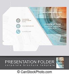 Vector presentation folder design template