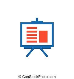 vector presentation icon and Logo blue, orange