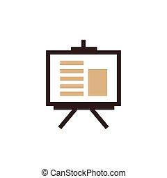 vector presentation icon and Logo brown color