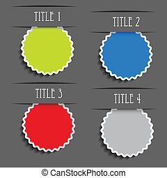 Vector presentation labels for advertising text -...