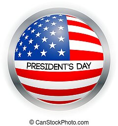 Vector Presidents Day card. National american holiday illustration with USA flag on black background.
