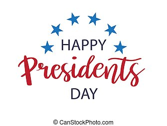 Vector Presidents Day card - Vector illustration Happy...