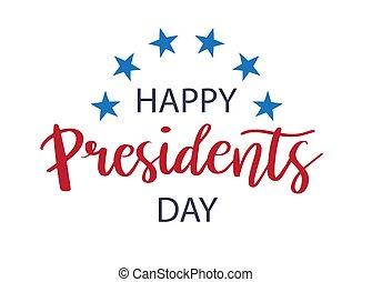 Vector Presidents Day card