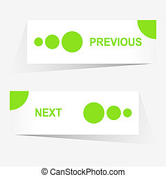 Vector Previous and Next navigation buttons for custom web...