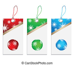vector price tags with Christmas design