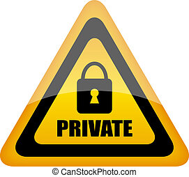 Vector private sign
