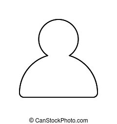 Vector profile outline icon. Isolated vector lined illustration for web or app design.