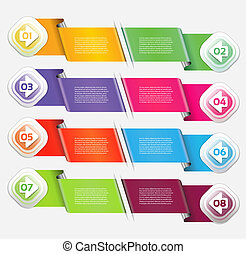 Vector Progress Background / Product Choice or Version. eps...