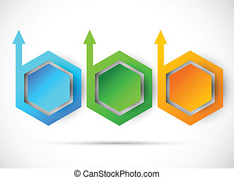 Vector progress steps