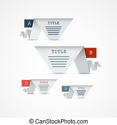 Vector Progress Steps for Tutorial, Infographics - A, B, C, ...