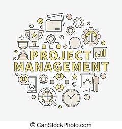 Vector project management illustration