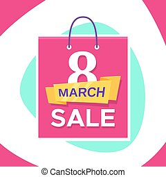 Vector promo banner design for 8 March Sale