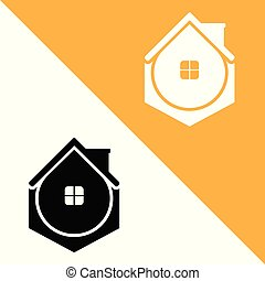 Vector Protect Home logo design template. Support icon modern.