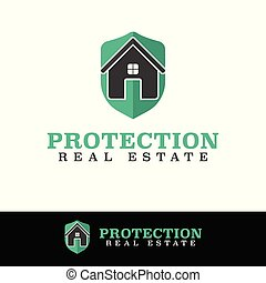 Vector Protect Home Security logo design template.