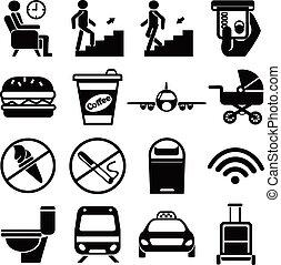 Vector public icons set