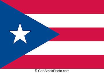 Puerto Rico flag - Vector Puerto Rico flag
