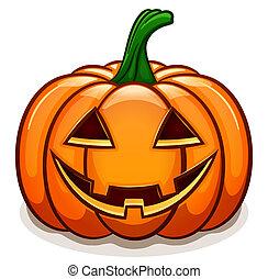 Vector pumpkin with smile face