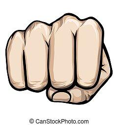 vector punching hand