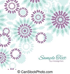 Vector purple and blue floral abstract frame corner pattern...