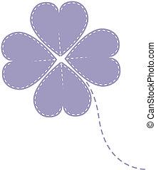 vector purple clover four leaf
