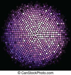 Vector purple disco lights background