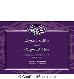 Vector Purple Formal Frame